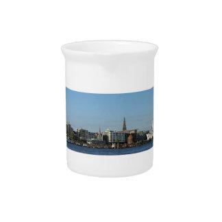 Hamburg Harbour Panorama Drink Pitcher