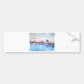 Hamburg Harbour Skyline And Elbe Philharmonic Hall Bumper Sticker