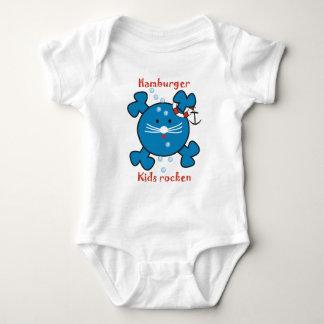Hamburg kids rock baby bodysuit