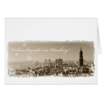 Hamburg, Michel, Weihnachten, Weihnachtskarte Greeting Cards