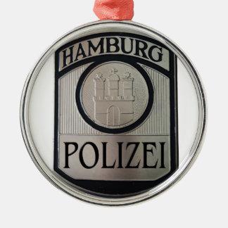 Hamburg Polizei Metal Ornament