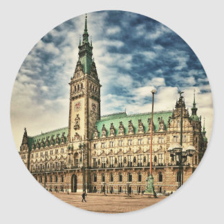 Hamburg Rathaus, Germany Classic Round Sticker