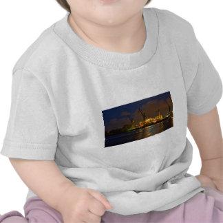 Hamburg shipyard with Tankship - Naval Line T-shirt