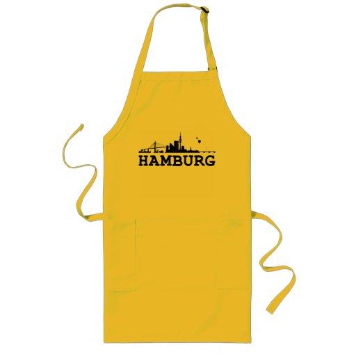 Hamburg skyline cook apron