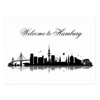 HAMBURG skyline - postcard/greeting map Postcard