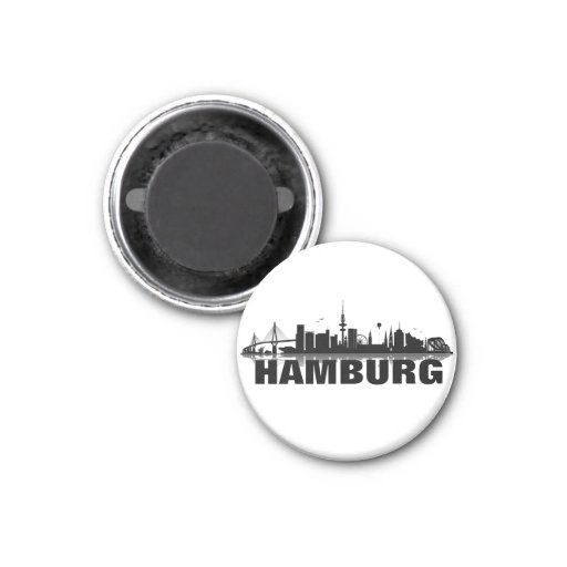 Hamburg skyline refrigerator magnet