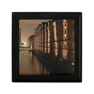 Hamburg Speicherstadt at Night Jewelry Box