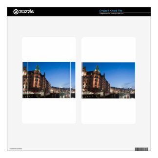 Hamburg Speicherstadt at Night Decal For Kindle Fire