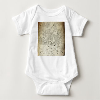 Hamburg Streets and Buildings Map Antic Vintage Baby Bodysuit