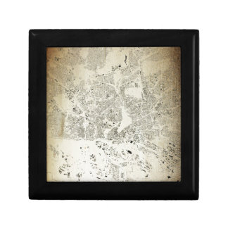 Hamburg Streets and Buildings Map Antic Vintage Jewelry Box