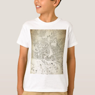 Hamburg Streets and Buildings Map Antic Vintage T-Shirt