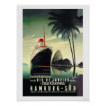 Hamburg to Rio de Janeiro on the Cap Arcona Poster