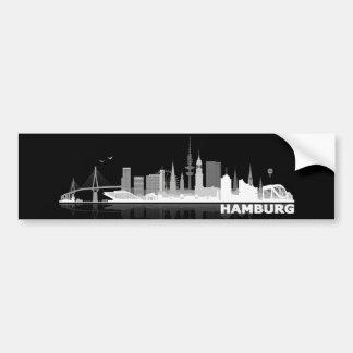 Hamburg town center of skyline bumper sticker