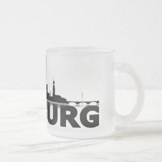 Hamburg town center of skyline cup/cups coffee mugs