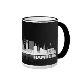 Hamburg town center of skyline cup/cups coffee mug