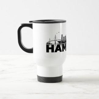 Hamburg town center of skyline cup/cups travel mug