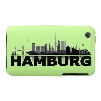 Hamburg town center of skyline iPhone 3 sleeve iPhone 3 Case-Mate Case