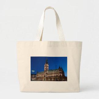 Hamburg Town Hall Canvas Bags