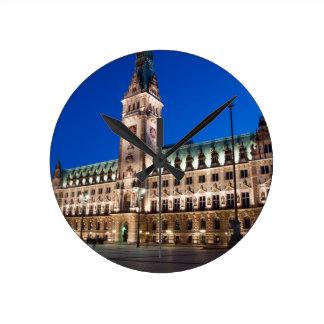 Hamburg Town hall Round Clocks