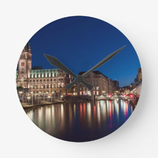 Hamburg Town hall Round Wall Clocks