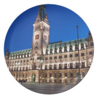 Hamburg Town hall Dinner Plate