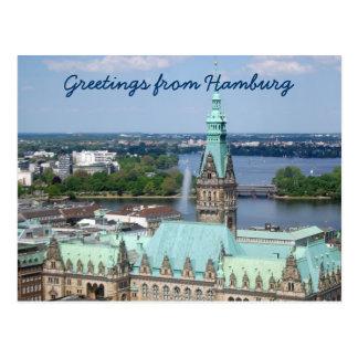 Hamburg Town Hall Postcards