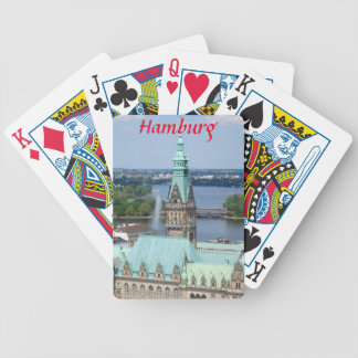 Hamburg Townhall Bicycle Playing Cards
