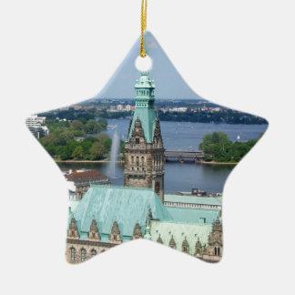 Hamburg Townhall Ceramic Ornament