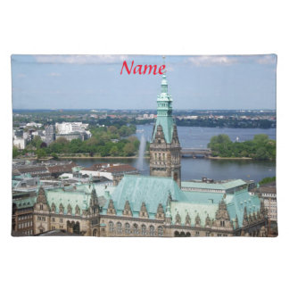 Hamburg Townhall Cloth Placemat