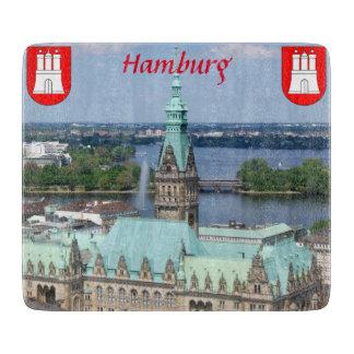 Hamburg Townhall Glas Cutting Board