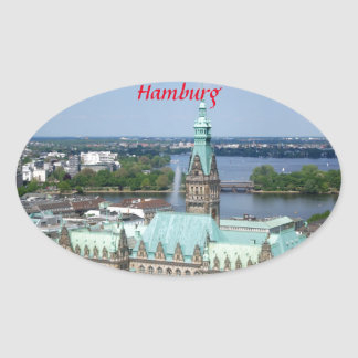 Hamburg Townhall Oval Sticker