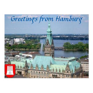 Hamburg Townhall Post Cards