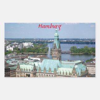 Hamburg Townhall Rectangular Sticker