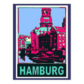 Hamburg Travel Poster Post Cards