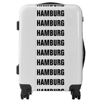 HAMBURG, Typo black Luggage