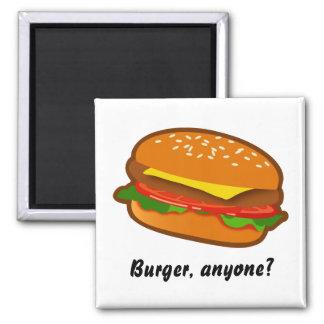 Hamburger 2 Inch Square Magnet
