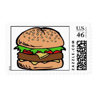 Hamburger 3 postage stamps