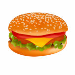 Hamburger Acrylic Cut Outs