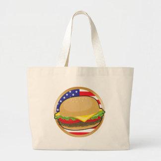 Hamburger American Flag Bags