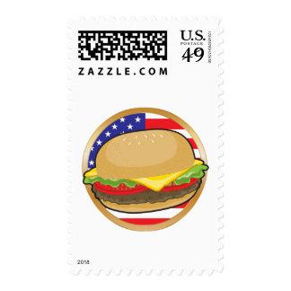 Hamburger American Flag Postage