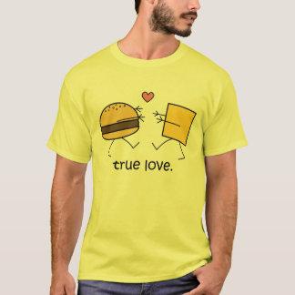 """Hamburger and Cheese """"True Love"""" Shirt (Light)"""