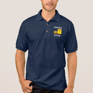 Hamburger and Chips: Friends Forever Polo Shirt
