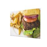 Hamburger and French Fries Canvas Print