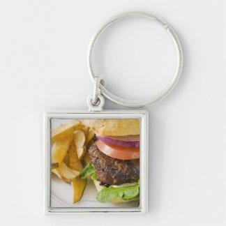 Hamburger and French Fries Keychain