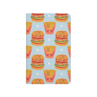 Hamburger and French Fries Pattern Printed on Merchandise Illustration by Haidi Shabrina
