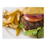 Hamburger and French Fries Postcard
