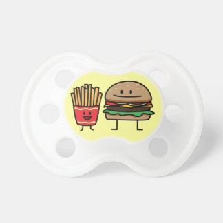 Hamburger and Fries Pacifiers
