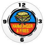 Hamburger And Fries  Wall Clock