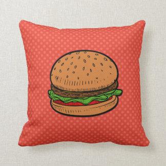 Hamburger art pillow