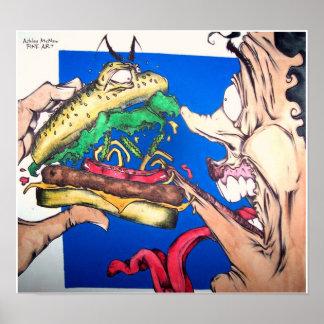 Hamburger Attacks Posters